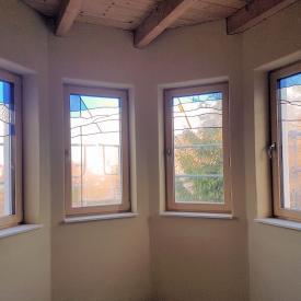 PaX Holzaluminiumfenster vorgerichtet für bauseitige Bleiverglasung